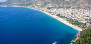 Der Strand von Alanya in Alanya