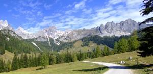 Alpenpanorama im Filzmoos bei Salzburg, Österreich in Österreich