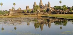 Der Tempelkomplex Angkor Wat in Kambodscha in Kambodscha