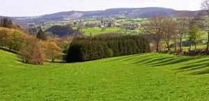 Landschaft der Ardennes in Belgien in Belgien