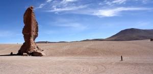 Die Atacamawüste in Chile in Chile