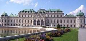 Blick auf das Schloss Belvedere in Wien, Österreich in Österreich