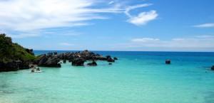 Der Strand von Saint George's auf Bermuda in Bermuda