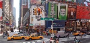 Der Broadway in New York in New York