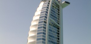 Das Hotel Burj al Arab in Dubai in Dubai
