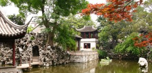 Der Löwenwaldgarten in Suzhou, China in China