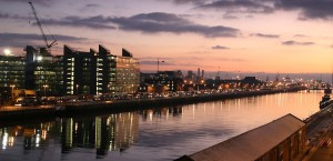 Sonnenaufgang am Fluß Liffey, Dublin in Dublin
