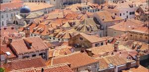 Blick über die Dächer von Dubrovnik in Kroatien in Kroatien