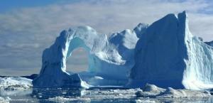 Eisberge vor Disko Bay in Grönland in Grönland
