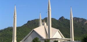 Die moderne Faysal-Moschee in Islamabad, Pakistan in Pakistan