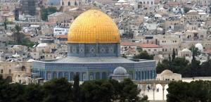 Der Felsendom in Israel in Israel