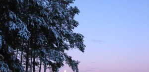 Typische Mitternachtssonne im Norden von Finnland in Finnland