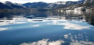 Ein Fjord in Grönland in Grönland