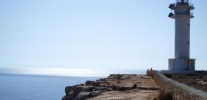 Einer der beiden Leuchttürme auf Formentera in Formentera