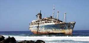Das Schiffswrack der