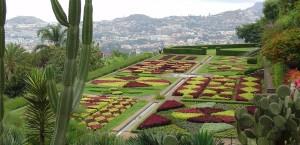Eine der berühmten Parkanlagen in Funchal in Funchal