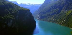 Der Geirangerfjord in Norwegen in Norwegen