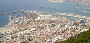 Blick auf den Hafen von Gibraltar in Gibraltar