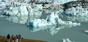 Gletschersee Breiðárlón in Island in Island