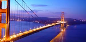 Die Golden Gate Bridge vor San Francisco in San Francisco