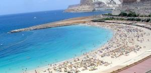Einer der Strände von Gran Canaria in Gran Canaria