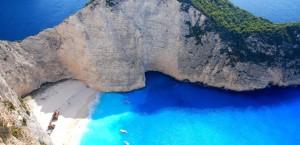 Blick auf die Bucht von Zakinos in Griechenland in Griechenland