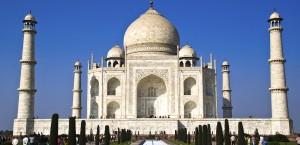 Das berühmte Taj Mahal in Agra, indien in Indien