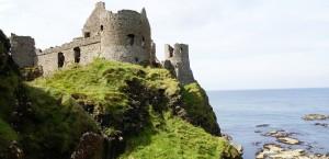 Dunluce Castle in Nordirland in Nordirland