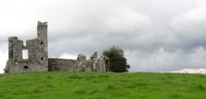 Die Ruine von Slane Hill in Irland in Irland