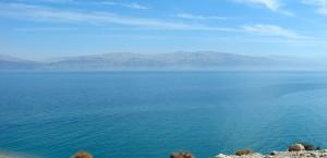Blick auf das Tote Meer in Israel in Israel