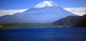 Der berühmte Berg Fuji in Japan in Japan