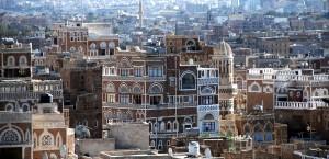 Die Altstadt von Sanaa im Jemen in Jemen