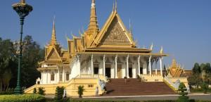 Der Königspalast in Phnom Penh, Kambodscha in Kambodscha