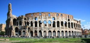 Das Kolosseum in Rom, Italien in Italien