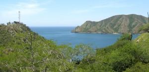 Panorama der Küste in Kolumbien in Kolumbien