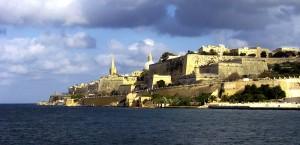 Die Festung in Valletta auf Malta in Malta