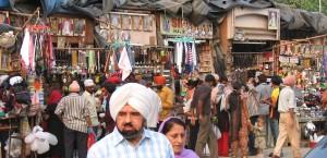 Typischer kleiner Markt in Delhi in Delhi