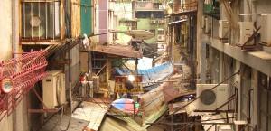 Markt in den engen Gassen von Macau in Macau