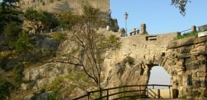 Blick auf die Festung La Guaita auf dem Monte Titano in San Marino