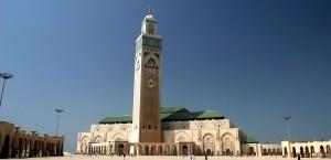 Die Hassan II Moschee in Casablanca, Marokko in Marokko