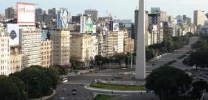 Typische Kolonialbauten, die an Paris erinnern, in Buenos Aires in Buenos Aires