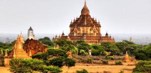 Eine der Pagoden in Bagan, Myanmar in Myanmar