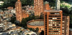 Blick auf die Hauptstadt Bogotá in Kolumbien in Kolumbien