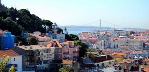 Blick über Lissabon in Lissabon