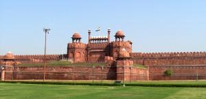 Das Rote Fort in Delhi in Delhi