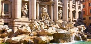 Der Trevibrunnen in Rom in Rom