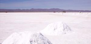 Der Salzsee Salar de Uyuni in Bolivien in Bolivien