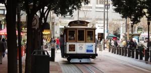 Die bekannten San Francisco Cable Cars in San Francisco