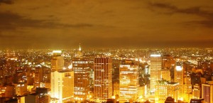 Blick auf São Paulo bei Nacht. in São Paulo