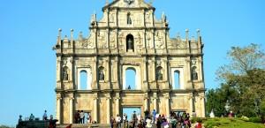 Fassade der Kirchenruine Saõ Paolo in Macau in Macau